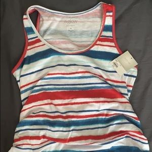 Maternity Aglow red, white and blue tank
